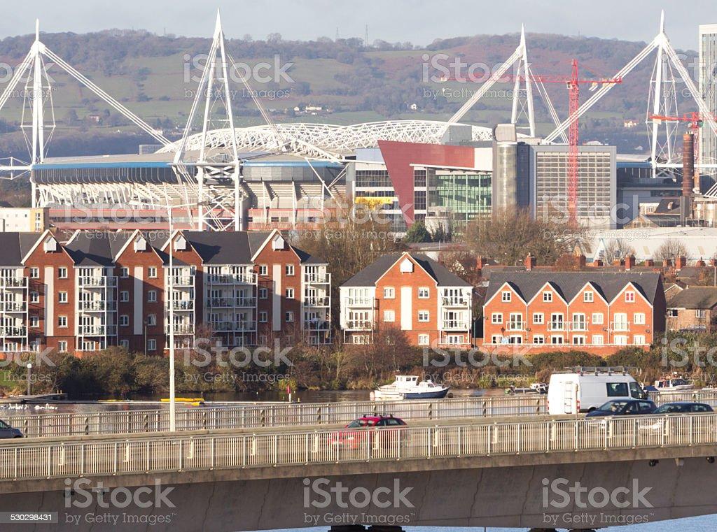 Millennium Stadium in Cardiff, Wales stock photo