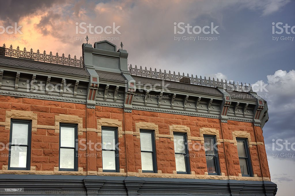 Miller Block at the  historic old town of Fort Collins stock photo