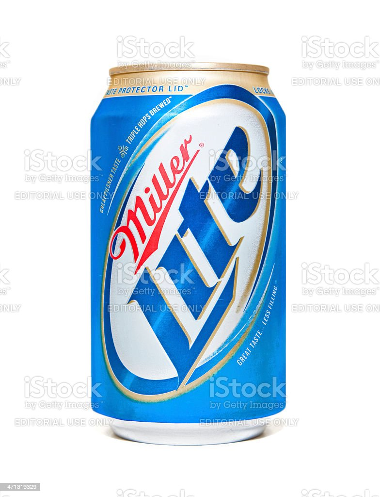 Miller Lite Beer Can royalty-free stock photo