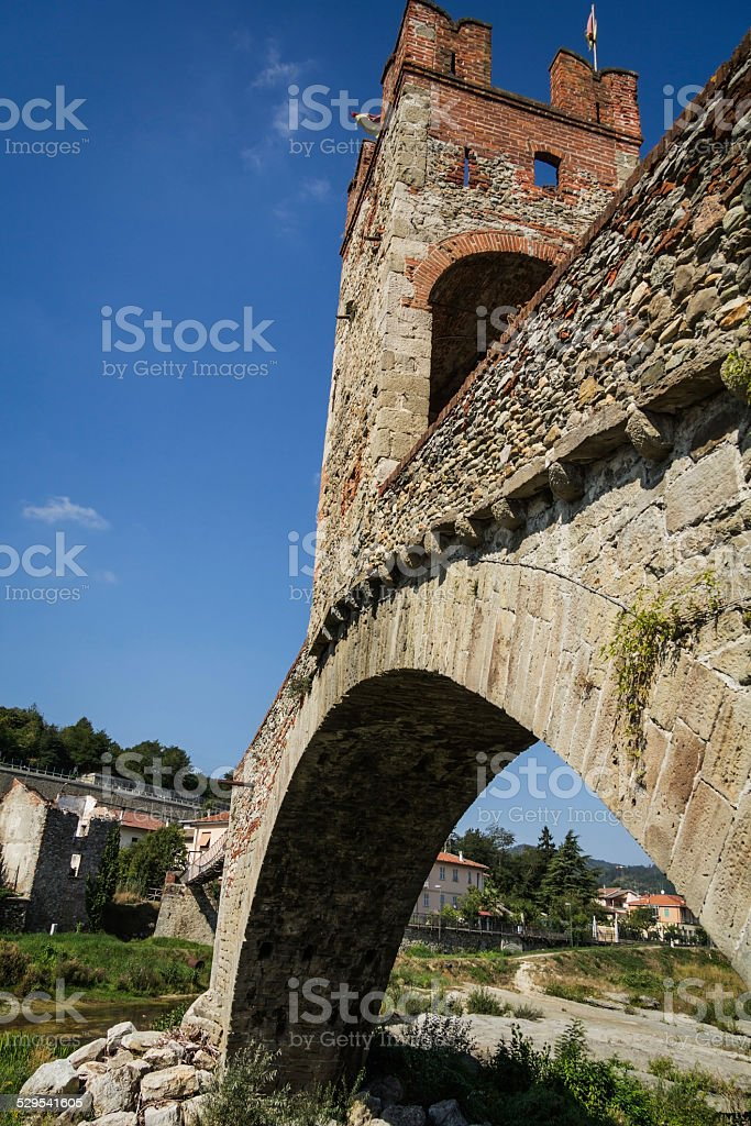 Millesimo Gaietta bridge stock photo