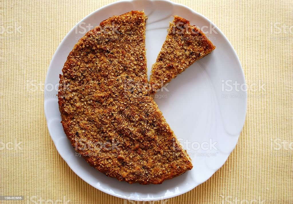 Millet and pumpkin pie royalty-free stock photo