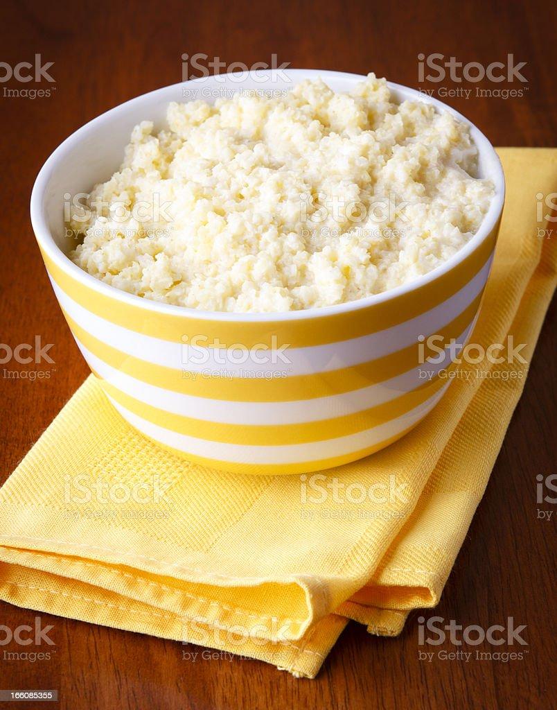 Millet porridge stock photo