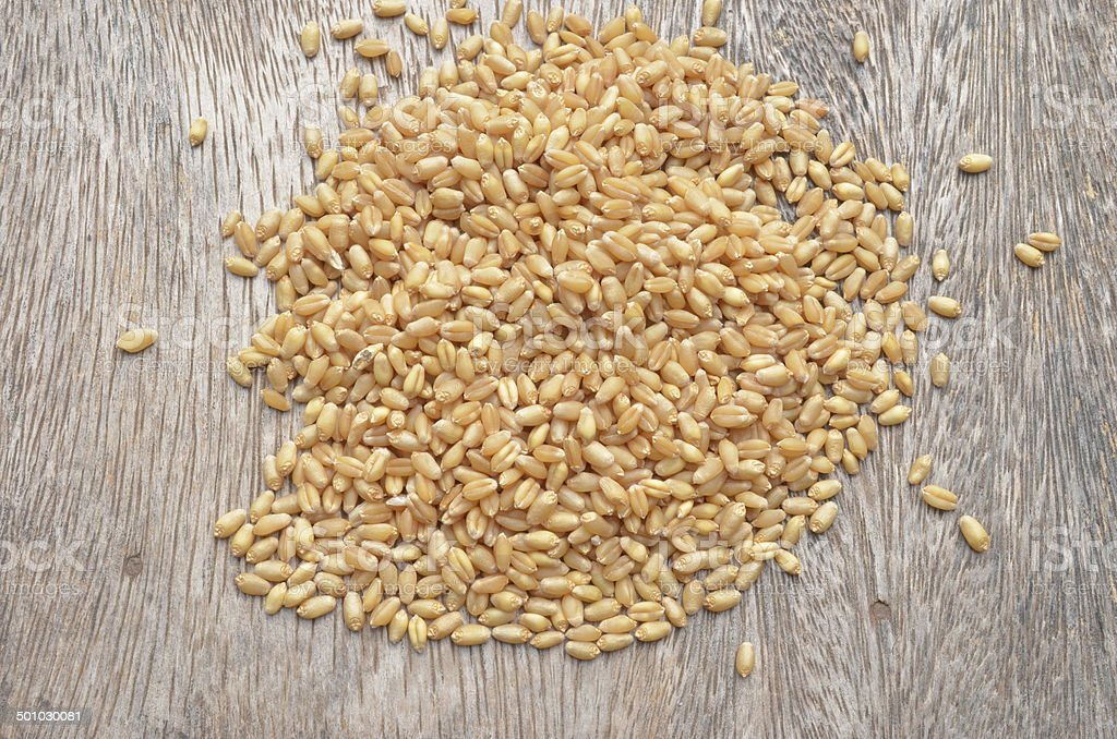 millet wheat stock photo