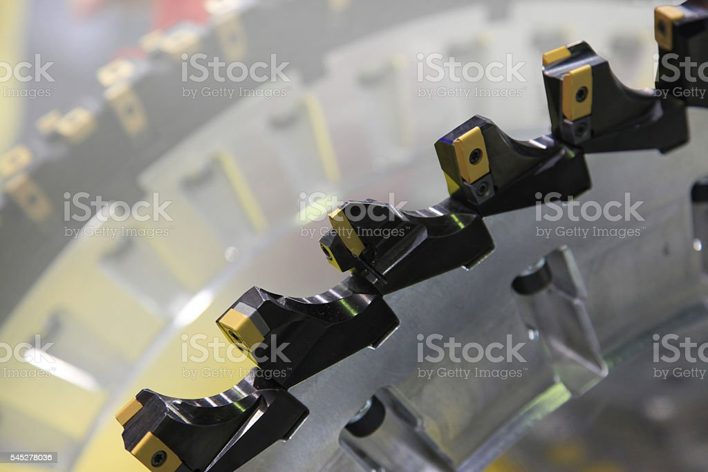 Milling cutters for metal processing stock photo