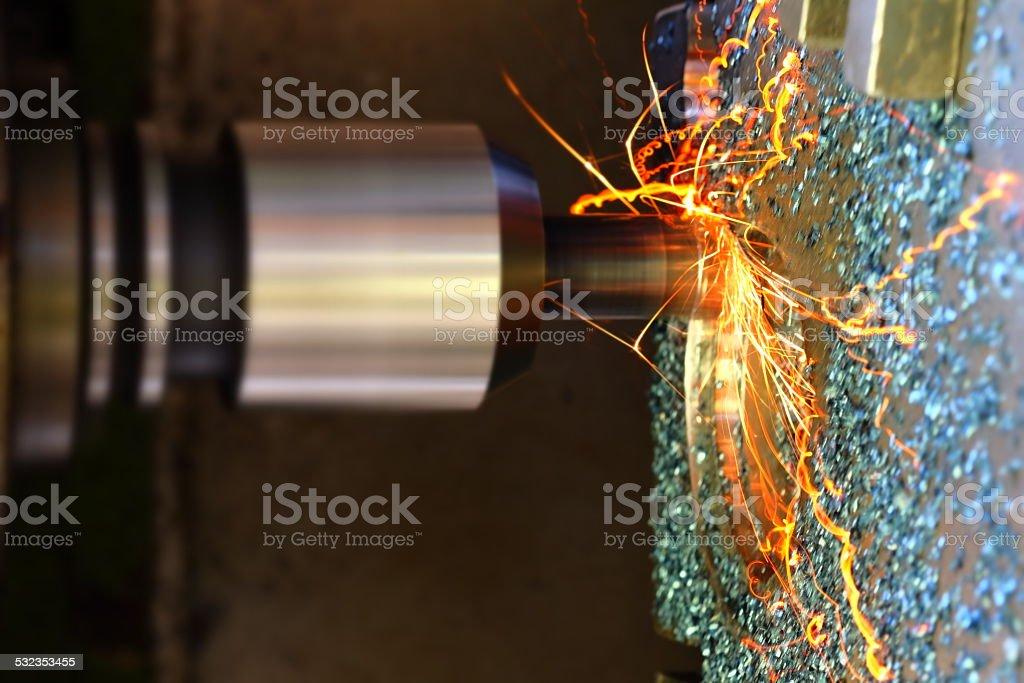 Milling machine stock photo