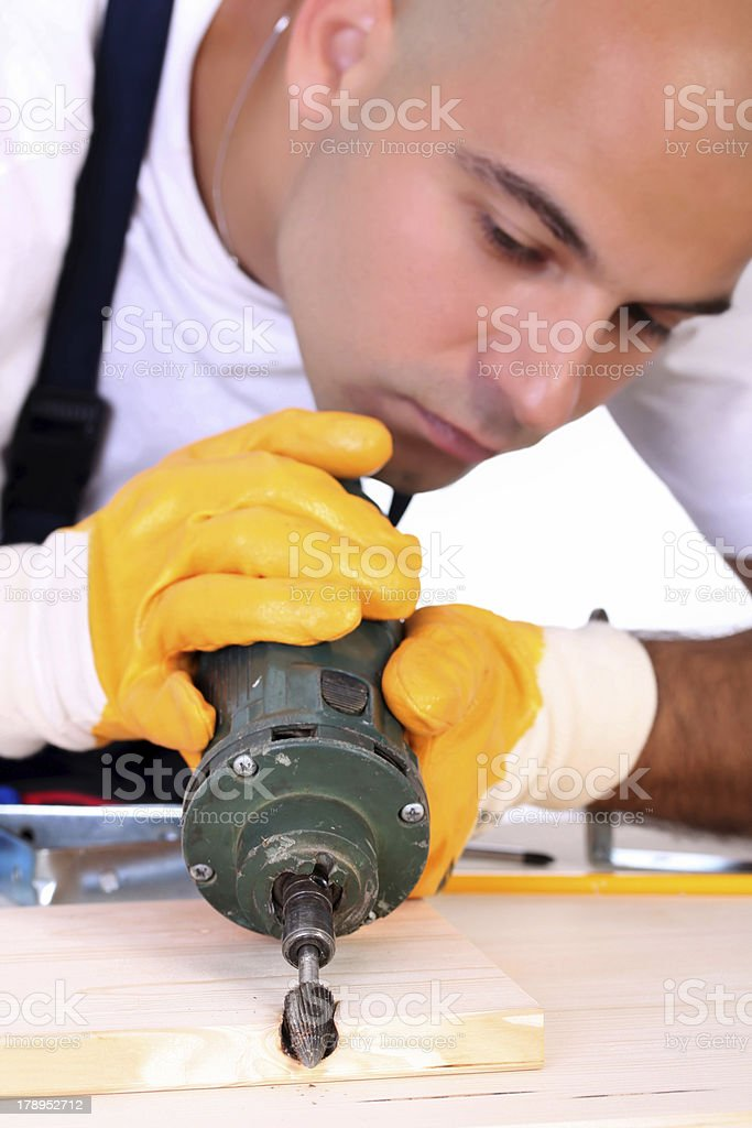 milling machinist royalty-free stock photo