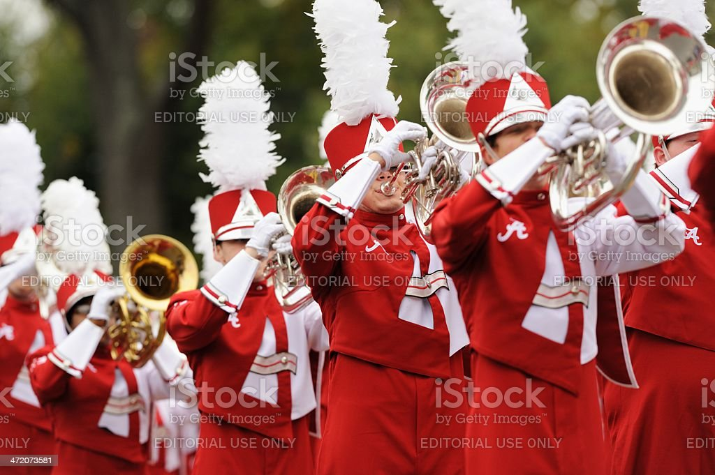 Million dollar band brass section stock photo