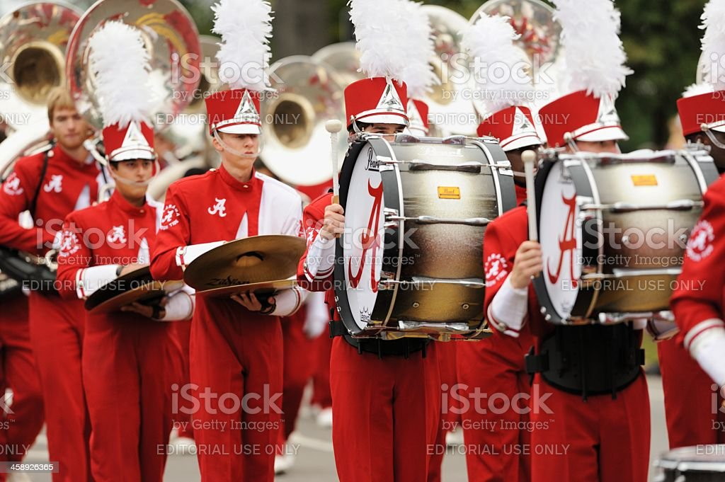 Million dollar band drum section stock photo