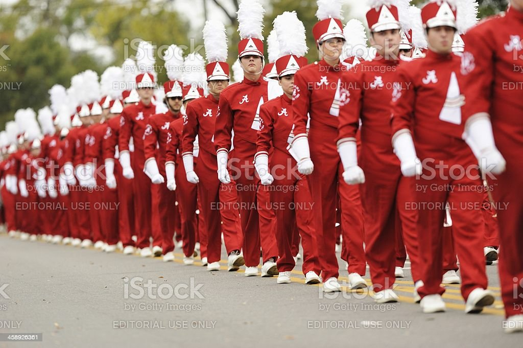 Million dollar band in homecoming parade stock photo