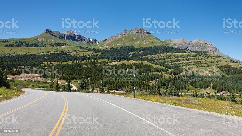 Million Dollar Highway at Molas Pass, Colorado stock photo