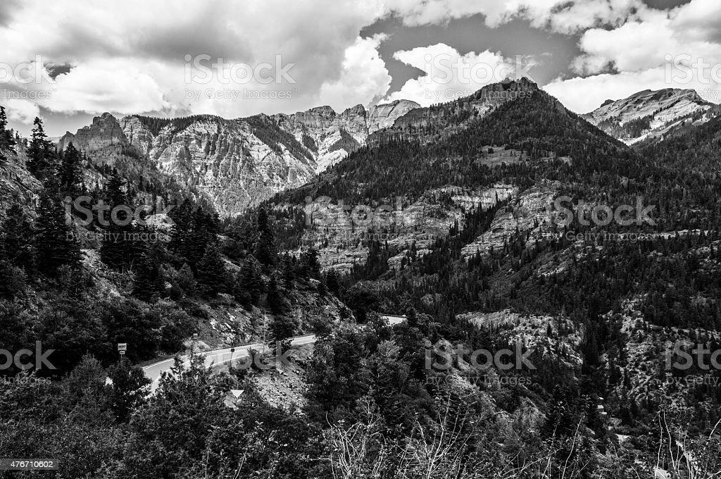 Million Dollar Highway Gateway to the Rocky Mountains stock photo