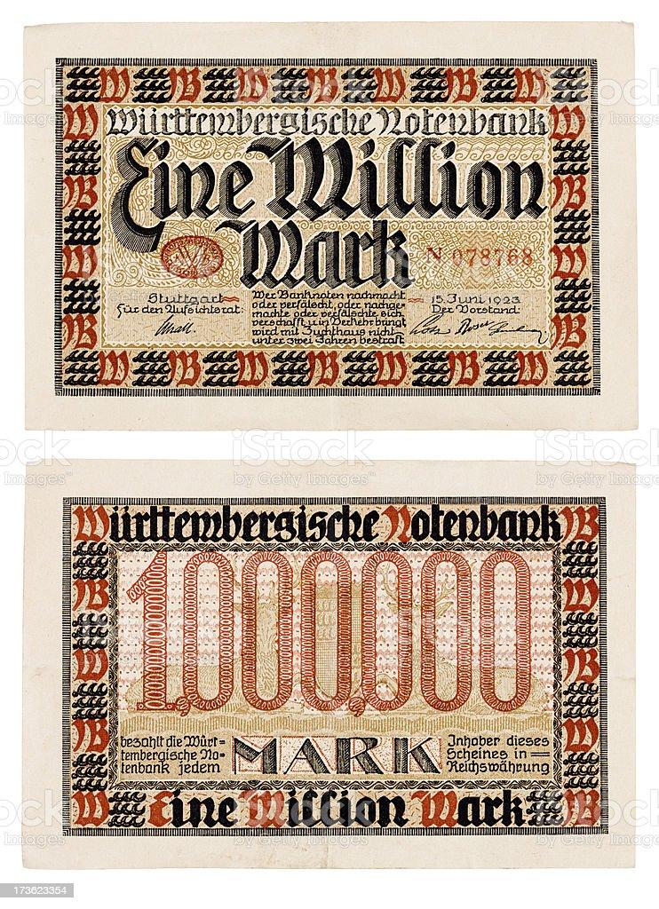 Million Mark Bill stock photo
