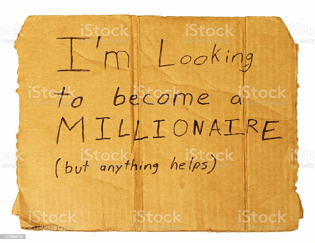 Millionaire-in-Training stock photo