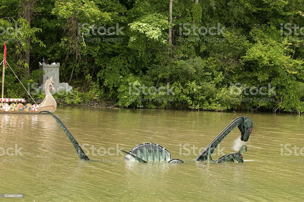 Millpond Millie--Michigan's Loch Ness Monster stock photo