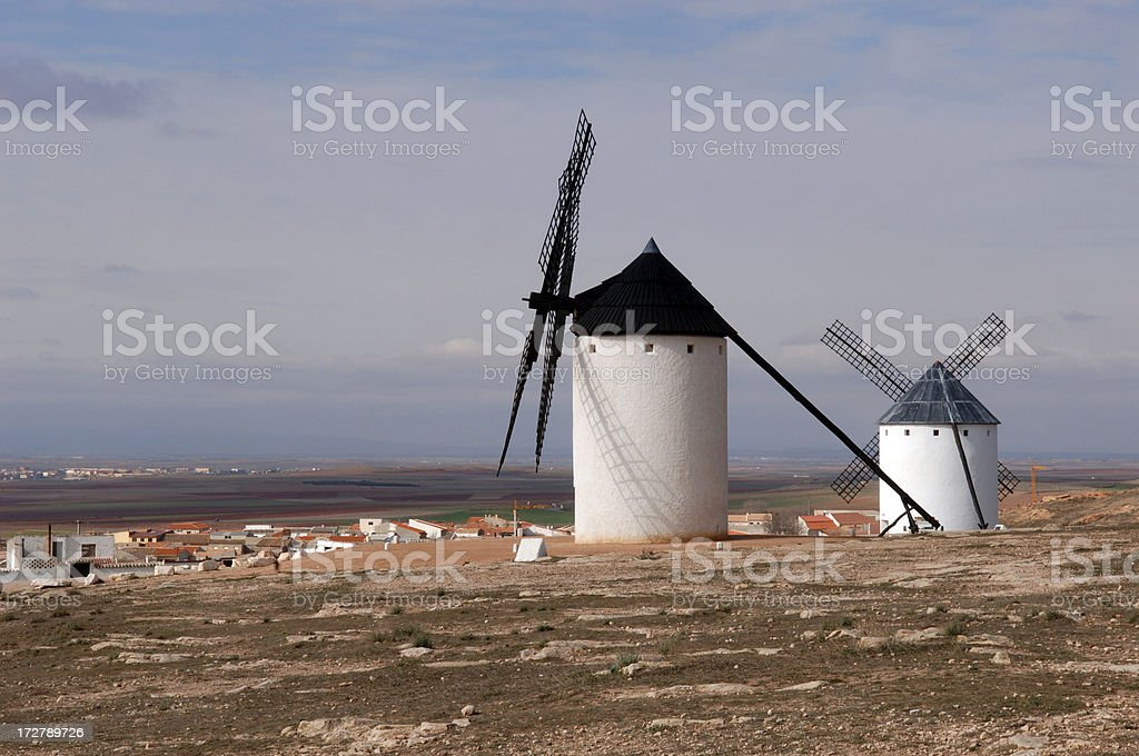 Mills of Campo de Criptana stock photo