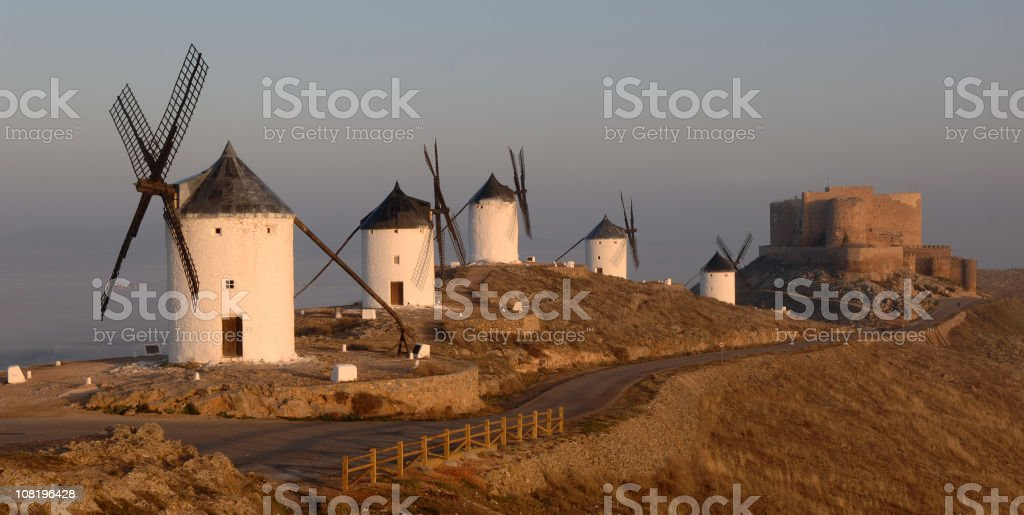 Mills of Consuegra royalty-free stock photo