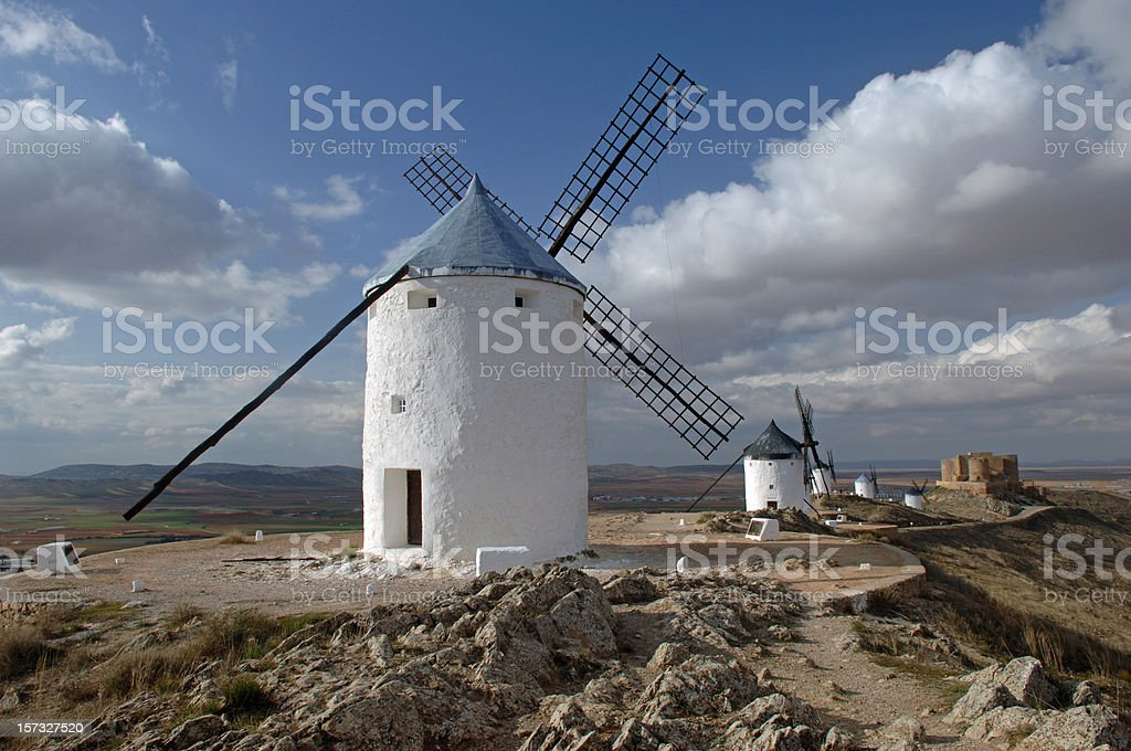 Mills of Consuegra royalty-free stock photo