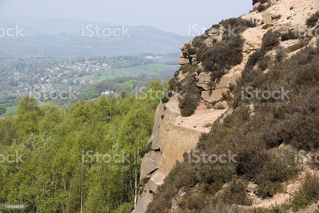 Millstone Edge, Peak District, UK stock photo