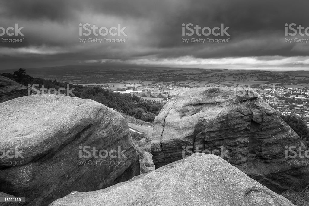 Millstone Grit royalty-free stock photo