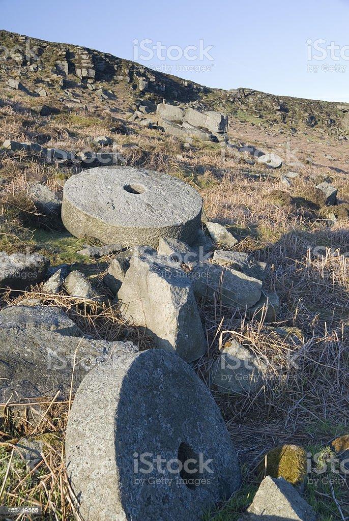 Millstones, Peak District, UK royalty-free stock photo