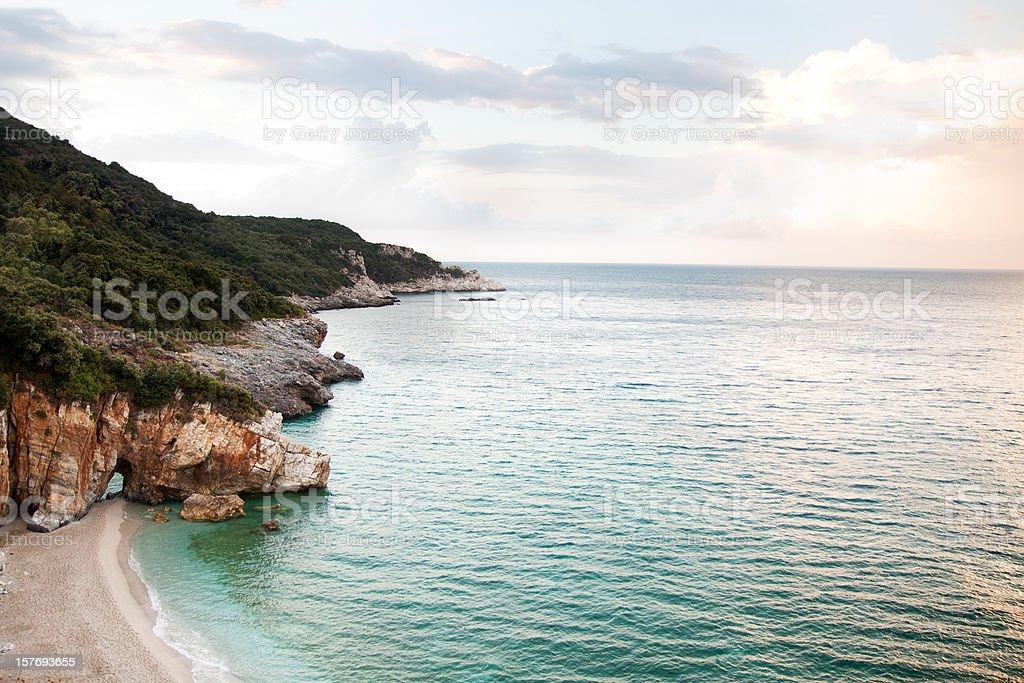 Milopotamos Beach Greece stock photo