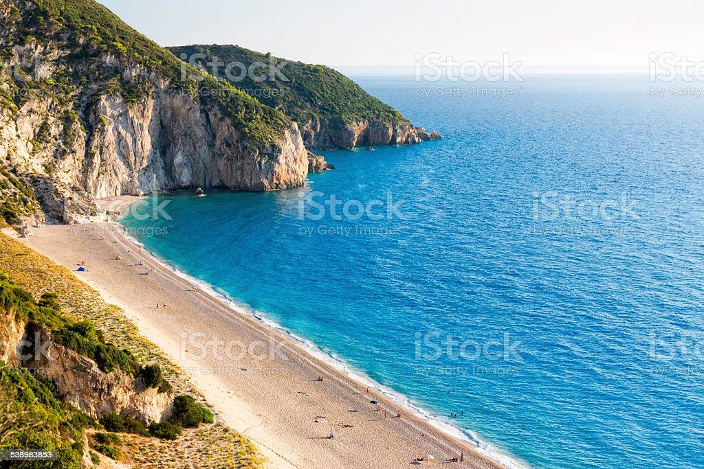 Milos beach stock photo
