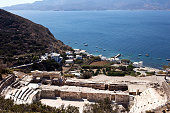 Milos - Roman Theatre above the harbor of Klima. Cyclades