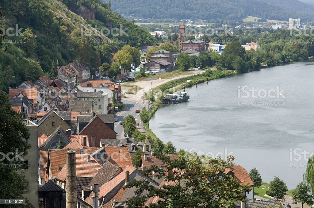 Miltenberg aerial view at summer time royalty-free stock photo