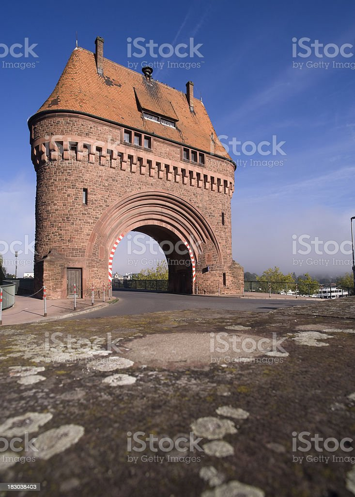 'Miltenberg,Bridgegate of the Spessartbrücke..' stock photo