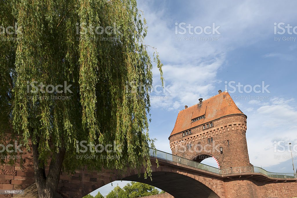 Miltenberg,Bridgegate of the Spessartbr?cke.. stock photo
