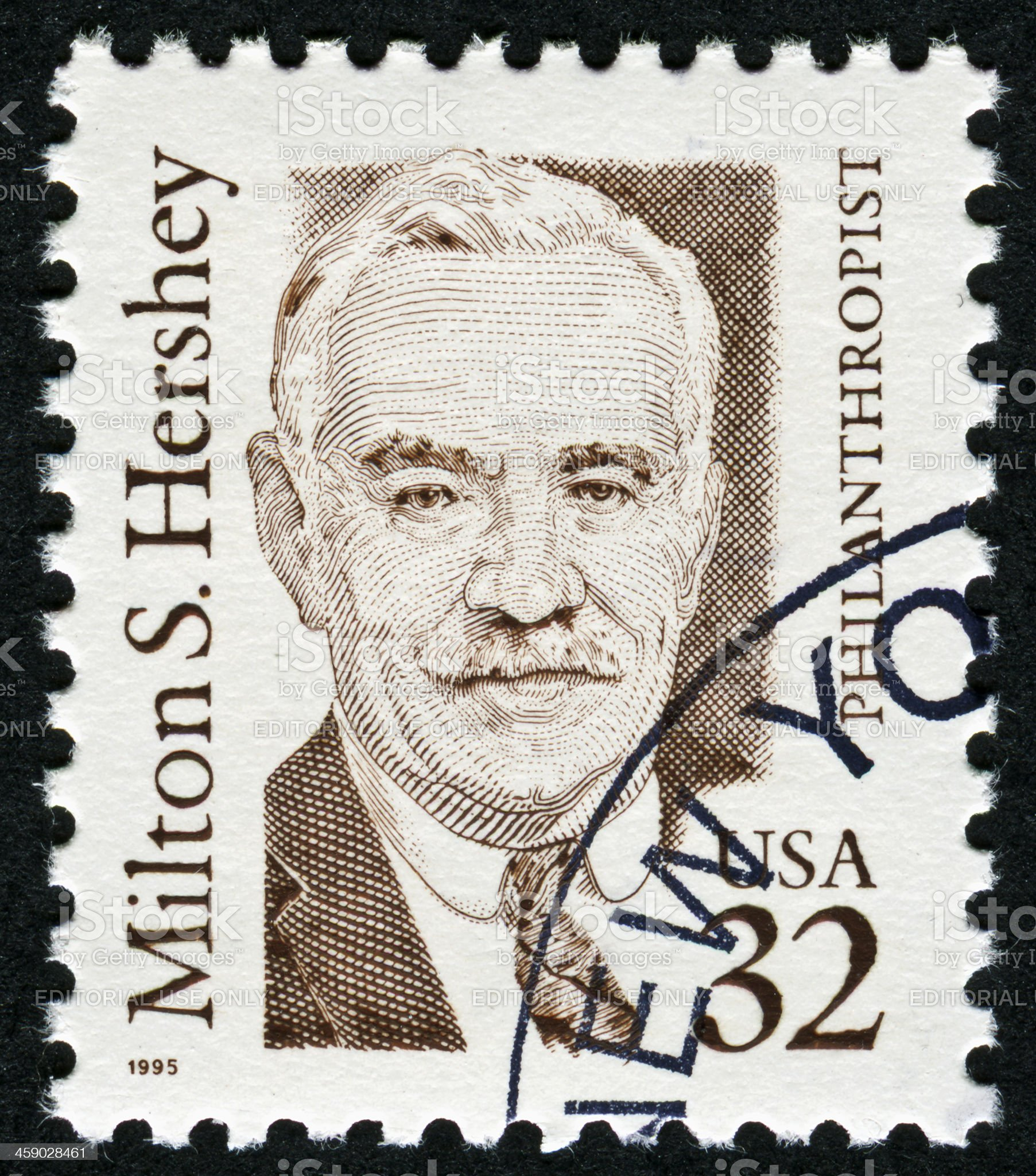Milton S. Hershey Stamp royalty-free stock photo