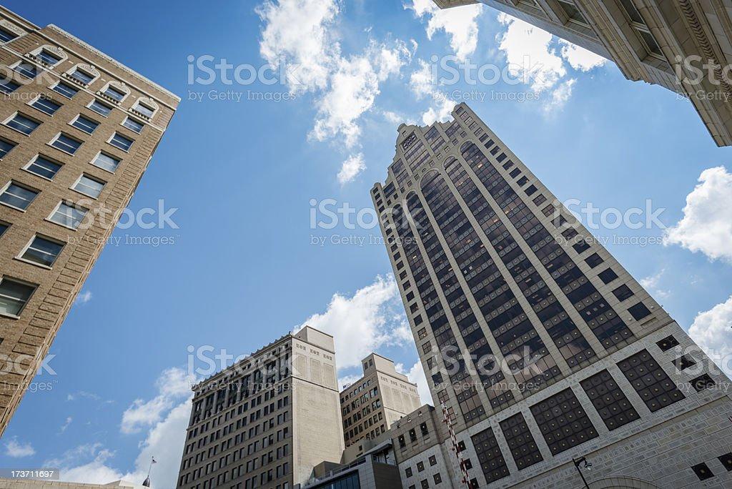 Milwaukee building exterior royalty-free stock photo