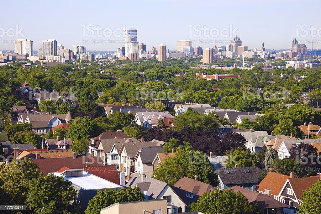 Milwaukee - city panorama stock photo