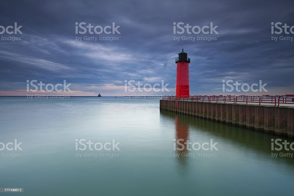 Milwaukee Lighthouse. stock photo
