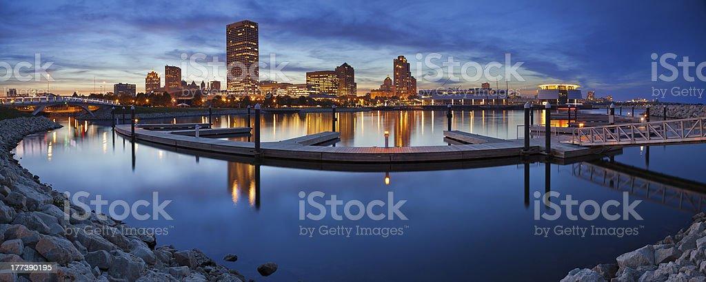 Milwaukee  Panorama. stock photo