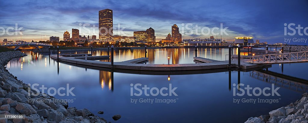 Milwaukee  Panorama. stock photo