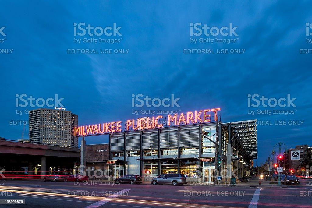 Milwaukee Public Market stock photo
