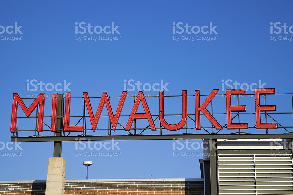Milwaukee sign stock photo