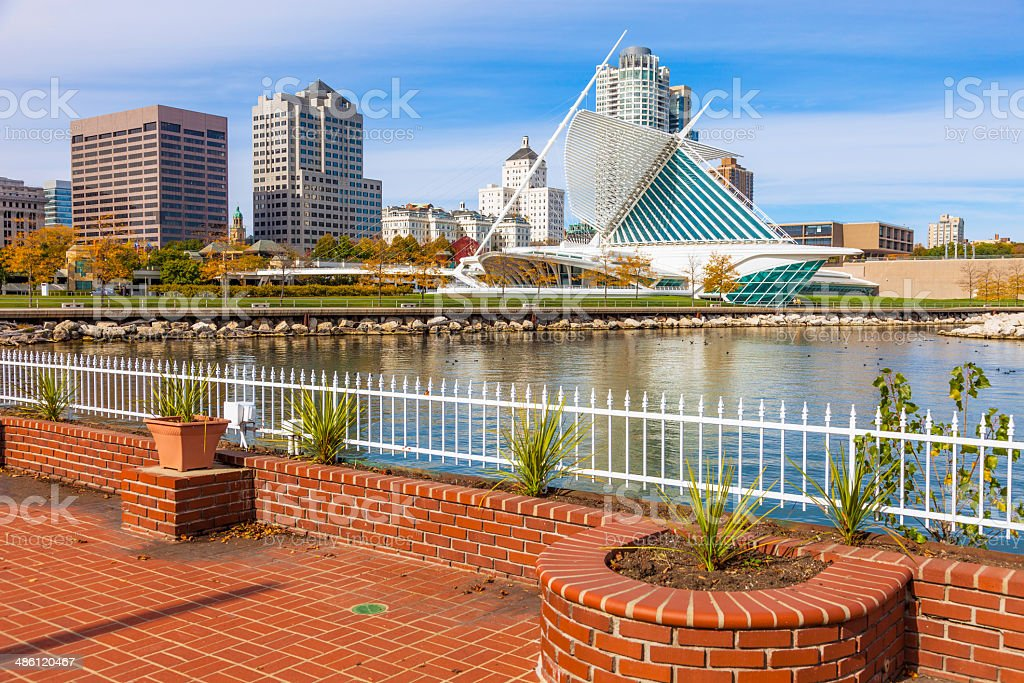 Milwaukee Skyline, WI stock photo