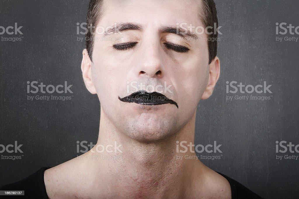 mime artist sleeping royalty-free stock photo