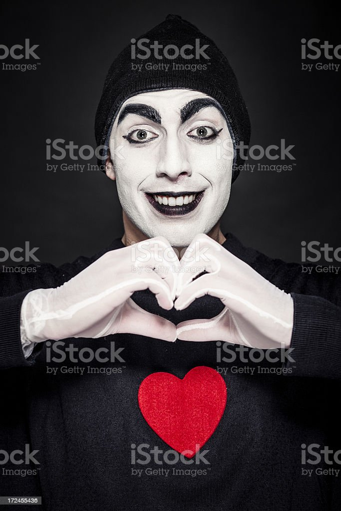 Mime performer royalty-free stock photo