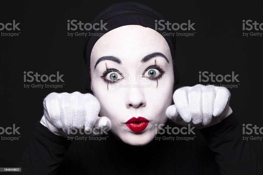 Mime performer stock photo
