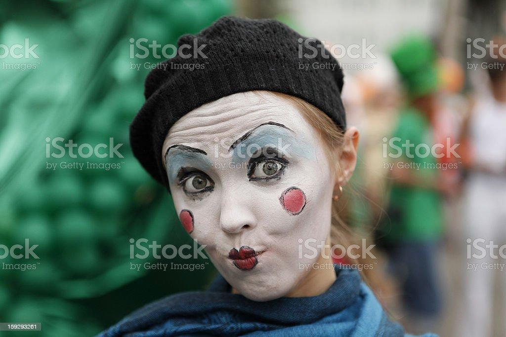 Mime portrait stock photo