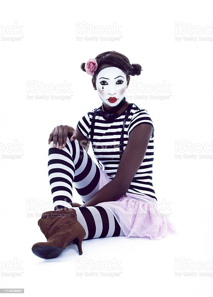 Mime Relaxing royalty-free stock photo