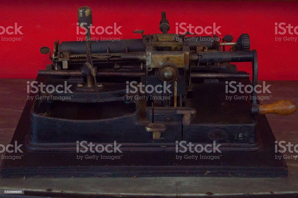 mimeograph stock photo