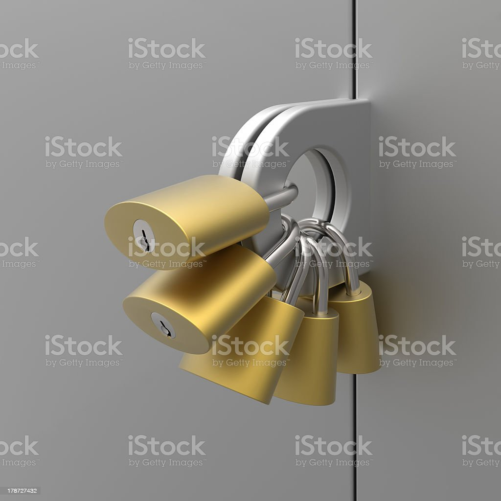 Mimicking about high level of security royalty-free stock photo