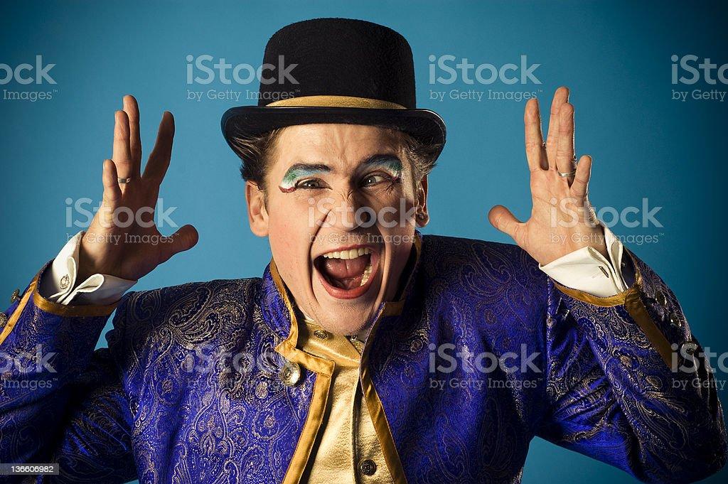 mimics an actor stock photo