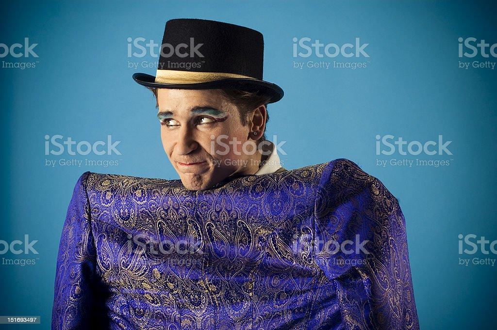 mimics an actor royalty-free stock photo