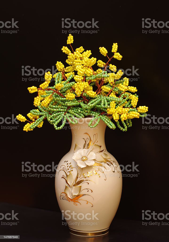 mimosa.wicker in beads. royalty-free stock photo