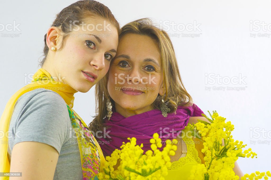 Mimose per la festa della donna stock photo